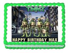 TMNT Teenage Mutant Ninja Turtles edible cake image frosting cake topper