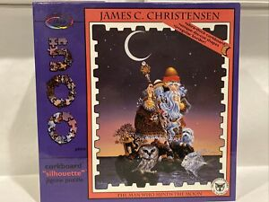 James C Christensen THE MAN WHO MINDS THE MOON 500 Piece Jigsaw Puzzle SEALED