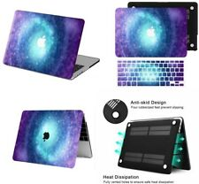 Sky Galaxy Pattern Laptop Rubberized Hard Case +KB Cover For New Macbook Pro Air