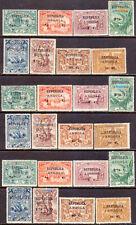 ANGOLA 1913 Yvert 118-141 MH 3 fresh sets!