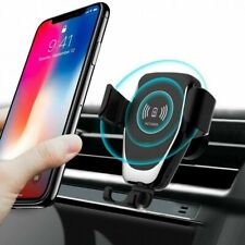 2 in 1 10w Qi Wireless Car Charger Gravity Bracket for I Phone 11 XS Samsung S20