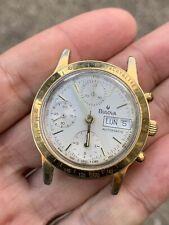 Bulova Automatic Valjoux 7750 Chronograph Movement ETA Good Working Vintage