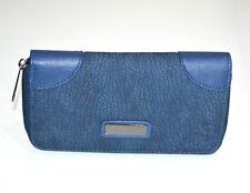 Portefeuille bleu femme faux cuir portemonnaie clutch bag sac à main wallet G5