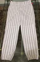 Rawlings Baseball Pants White w/Black Pin Stripe Mens & Youth Sizes YBP95, BP95
