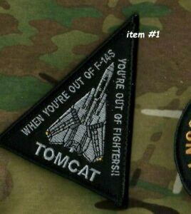 USN F-14 Tomcat Twin-Engine Fighter Velkrö Patch : Sortie De F-14s Combattants