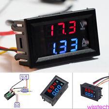 DC 100V 10A Voltímetro Amperímetro Azul Red LED Amperio Digital Volt Meter ms