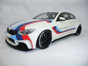 BMW M4 F82 COUPE LIBERTY WALK WHITE STRIPES 1:18 GT-SPIRIT ZM067 limited 300pcs