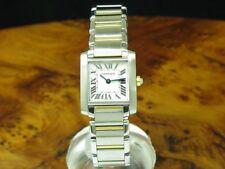 Cartier Tank Francaise 18kt 750 Gold / Edelstahl Damenuhr / Ref 2384