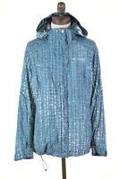 COLUMBIA Womens Rain Jacket Size 10 Small Blue Nylon  BU10