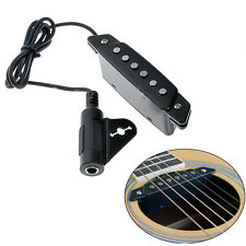 Black Belcat Soundhole Pickup with Active Power Jack for Acoustic Classic Guitar