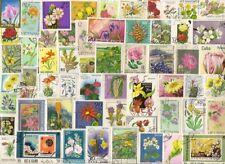 100  verschiedene  Blumen/Planzen  Briefmarken Motive    aller  Welt + 1 Block