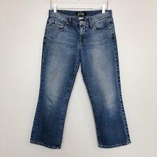 Lucky Brand Womens Jean Classic Rider Crop Size 4 27 Denim Capri Distressed