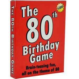 Looking for fun 80th Birthdays Gifts ? Here's the 80th Birthday Card Game!