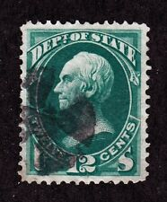 US O63 12c State Department Used XF w/ Iron Cross Fancy Cancel