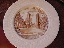"Royal Cauldon England Glastonbury Abbey Plate, 9 3/4"", brown/ivory"
