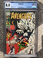 Avengers # 61 CGC 8.0 OW/W Pages 1969 Marvel Comics Dr Strange Black Knight  MCU