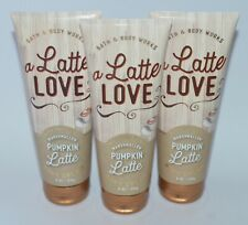 3 BATH & BODY WORKS MARSHMALLOW PUMPKIN LATTE LOVE CREAM HAND LOTION 8OZ LARGE