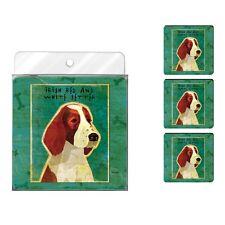 Irish Red and White Setter Dog Coaster 4 Pack Set Neoprene Tree Free John Golden
