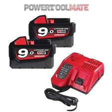 Milwaukee M18NRG-902 18V Energy Pack 2 x M18B9 9.0Ah Battery & M12-18FC Charger