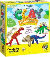 Creativity for Kids Create with Clay Dinosaurs - Build 3 Dinosaur Figures with M