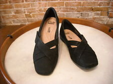 Clarks Haydn Opal Black Nubuck Mary Janes Shoes 8W NEW