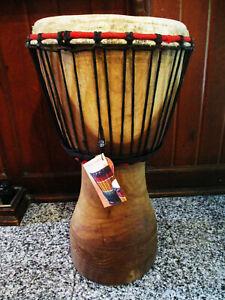 Djembe 65 cm Profi Instrument Naturholz Trommel Bongo Schlagzeug Afrika