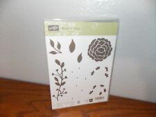 Stampin Up Bountiful Border Leaf Stem Flower Build 7 Clear Cling Stamp L0118