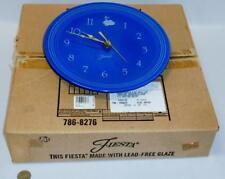 "Fiestaware Retired Sapphire Blue Clock Plate 10"" Homer Laughlin Co. w... Lot 131"