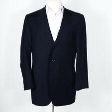 Oxxford Super 100s Navy Blue Jacket w/ Working Cuffs 42 L