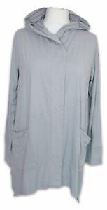 Cuddl Duds Flexwear Hankey Hem Hooded Cardigan Light Grey Size XL BNWOT NEW