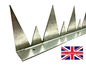 Security WALL SPIKES x 900mm Long Galvanized Steel Wall Gate & Fence Security