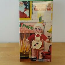 Vintage Christmas Crochet Kit- Mrs. Claus- Vogart Crafts #3202- Doll- Amigurumi