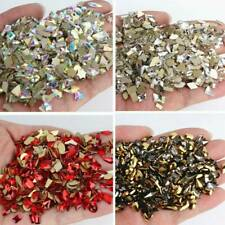 3D Nail Art Rhinestone Glitter FlatBack Jewelry Gems Rivet Mixed Tips Decor DIY