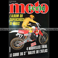 MOTO VERTE N°121-b THIERRY MICHAUD GASTON RAHIER BETA TR 32 YAMAHA TY 250 1984