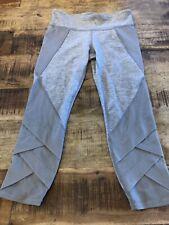Ivivva Gray Cropped Leggings Lululemon Girl's 12 Mesh