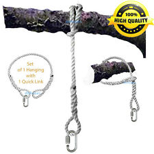 """48"""" x 3/8"""" Tree Swing  Hanging - Hammock SAFER Rope with 2 Spliced Eyes and Link"""