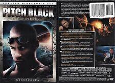 Pitch Black (Dvd 2004 Unrated Director's Cut Ws) Vin Diesel Radha Mitchell