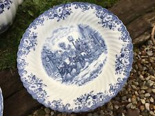 Grand Plat Rond Service Coaching Scenes Johnson Brother Porcelaine Anglaise