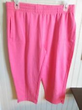 THREE HEARTS KNIT STRETCH CAPRIS SIZE PL PINK NWT