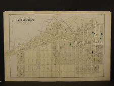 New York Long Island Map 1873 East New York, Double Page N3#81