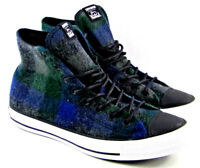 Converse x Woolrich Chuck Taylor All Star Women's Blue,Green, Plaid Wool Size 9