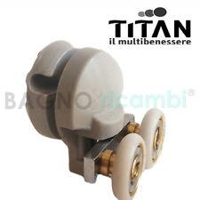 Ricambio gruppo ruote grigio completo per cabina doccia curva Titan q33458g