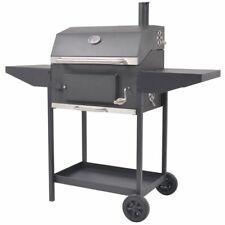 vidaXL Houtskoolbarbecue met Onderplank Zwart BBQ Barbecue Barbecues Grill