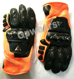 New Motogp 4 Stroke Motorbike Racing Genuine Leather Gloves All Size Available