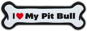 Hundeknochen Magnet: I Love My Pit Bullterrier Für Auto, Kühlschränke, Mehr