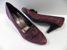 Chaussures DERNIERE VERSION rouge taille 35 femme bordeaux escarpins sexy NEUF