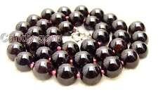 "Big 13-13.5mm Round High quality natural garnet gemstone Beads 15"" strand-147"