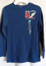 BOYS S 5 6 COBALT BLUE ATHLETIC DEPART THERMAL SHIRT NWT ~ THE CHILDREN'S PLACE