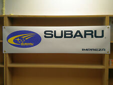 Subaru Impreza wrc workshop Garage Car banner
