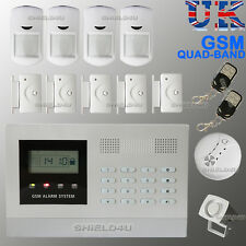 LCD SECURITY WIRELESS GSM AUTODIAL SMS HOME OFFICE BURGLAR INTRUDER FIRE ALARM